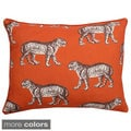 Tiger Reversible Throw Pillow