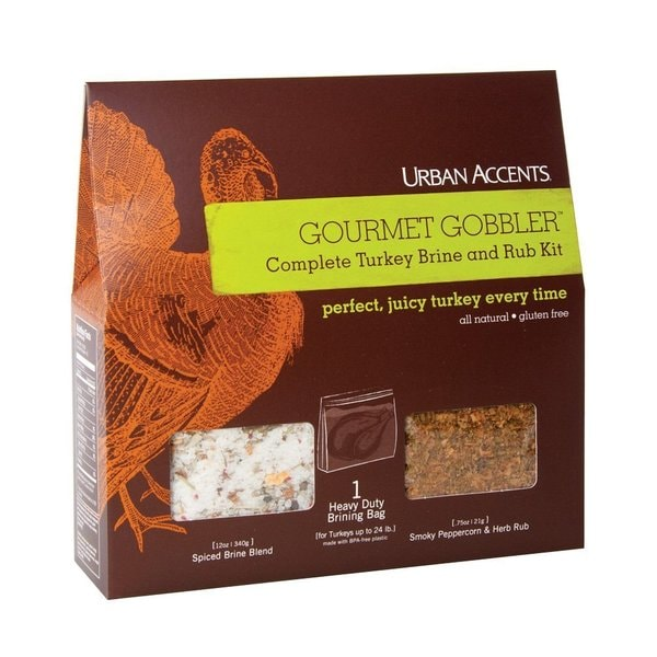 Urban Accents Gourmet Gobbler Turkey Brine and Rub Kit