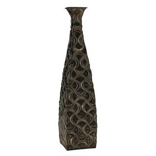 Elements 24-inch Metal Bronze Ogee Vase