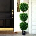 Romano 58-inch Indoor/ Outdoor Hedyotis Triple Ball Topiary Tree