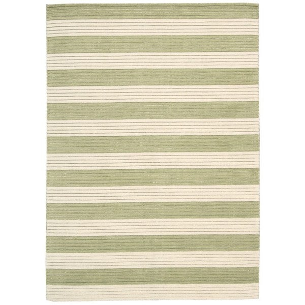 Ripple Sage Green Wool Area Rug (7'9 x 10'10)