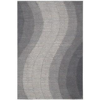 Joseph Abboud Mulholland Grey Area Rug by Nourison (5' x 7'6)
