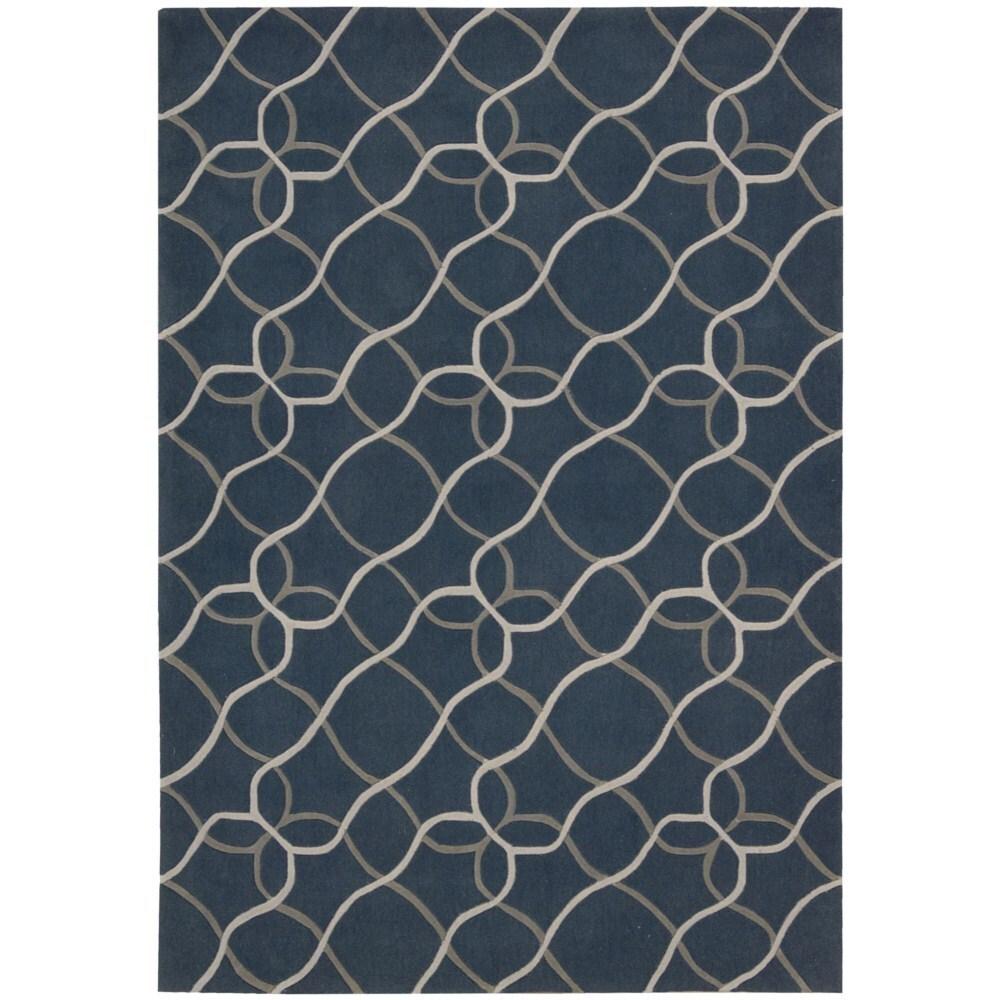 Nourison Hand-tufted Contours Denim Blue Area Rug (8' x 10'6)