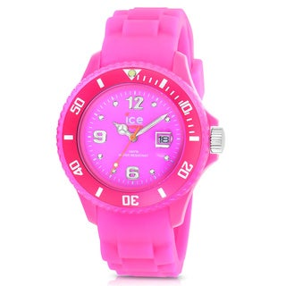 Ice Women's Neon Pink Silicone Watch