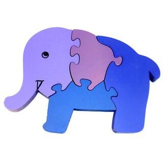 Wooden Elephant Puzzle (India)