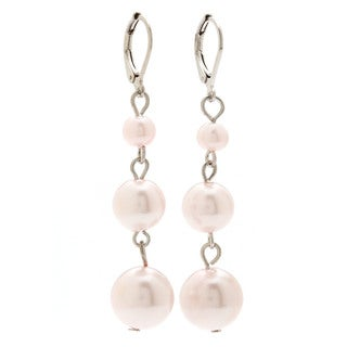 Alexa Starr Graduated 3-tier Faux Pearl Drop Earrings