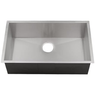 Ticor 32-inch Stainless Steel Single Bowl Square Undermount Kitchen Sink