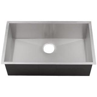 Ticor 3510BG 32-inch 16-gauge Stainless Steel Single Bowl Square Undermount Kitchen Sink