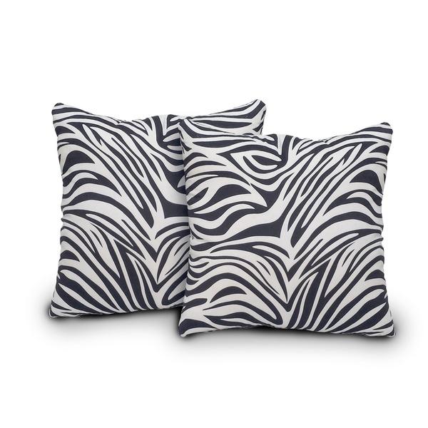 Innovex Zebra Bella Pillows (Set of 2)
