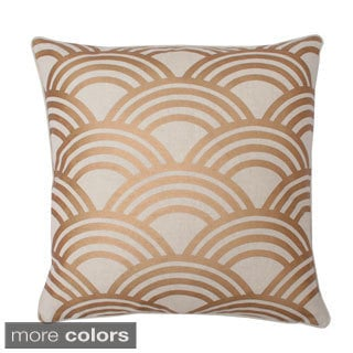 Myrtle Foil Printed Feather Filled Throw Pillow