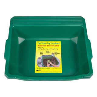 Table Top Gardener Green Portable Potting Tray