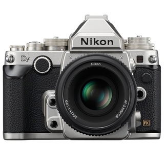 Nikon Silver Df DSLR Camera and 50 mm f/1.8 Lens
