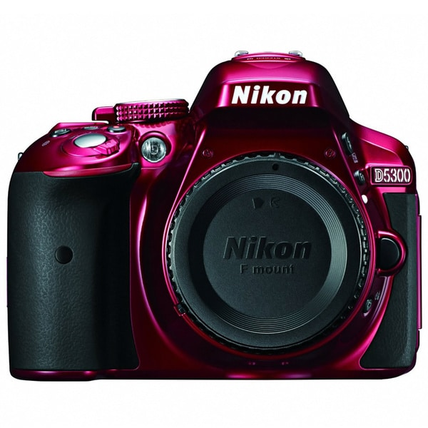 Nikon D5300 24.2MP Red Digital SLR Camera (Body Only)