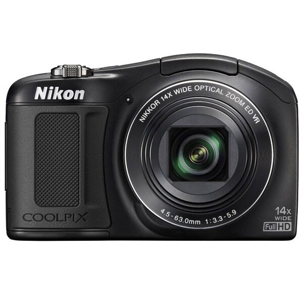 Nikon Coolpix L620 18.1 Megapixel Compact Camera - Black