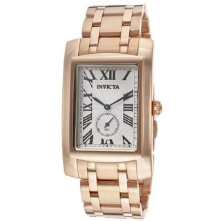 Invicta Men's 14701 Cuadro 18k Rose Goldplated Stainless Steel Watch