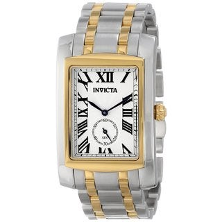 Invicta Men's Cuadro 14698 18k Two-tone Goldplated Stainless Steel Watch