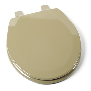 Deluxe Molded Wood Round Avocado Green Toilet Seat