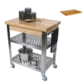 John Boos CUCR3020 Cucina 30x20x35 Rosato Cart and Cutting Board