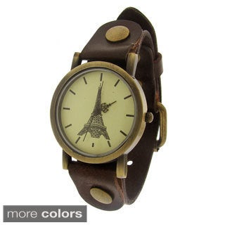 Moise Women's Eiffel Tower Leather Strap Watch