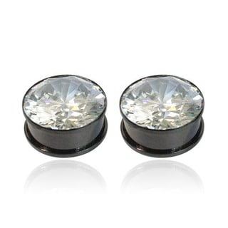 Supreme Jewelry Black Anodized Titanium Plugs (Pair of 2)
