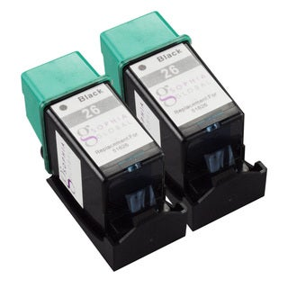 Sophia Global Remanufactured HP 26 Black Ink Cartridge Replacement (Set of 2)