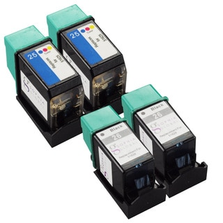 Sophia Global Remanufactured HP 26 and HP 25 Black/ Color Ink Cartridge (Set of 4)