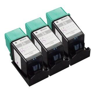 Sophia Global Remanufactured HP 26 Black Ink Cartridge Replacement (Set of 3)