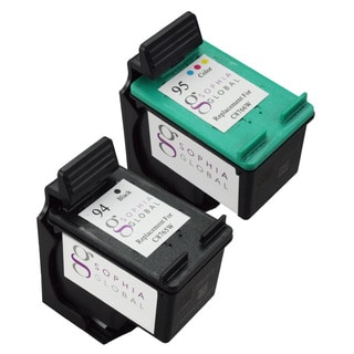 Sophia Global HP 94 and HP 95 Black/ Color Ink Cartridge Replacement (Remanufactured)