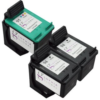 Sophia Global Remanufactured HP 94 and HP 95 Black/ Color Ink Cartridge Replacements (Set of 3)