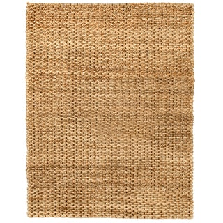 Ria Natural Gold and Brown Jute Rug (10' x 14')