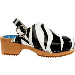Girls' Cape Clogs Zebra Black and White