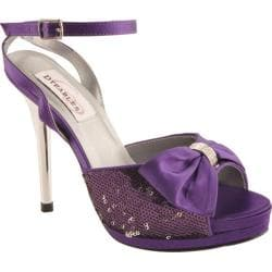 Women's Dyeables Lacey Purple Satin Sequins