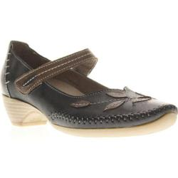 Women's Spring Step Jessa Black Leather