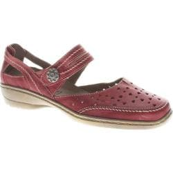 Women's Spring Step Martine Red Leather