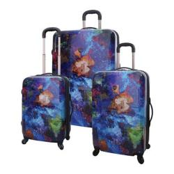 Travelers Club Splash 3 Piece Expandable 4-Wheel Luggage Set Paint Splash 3