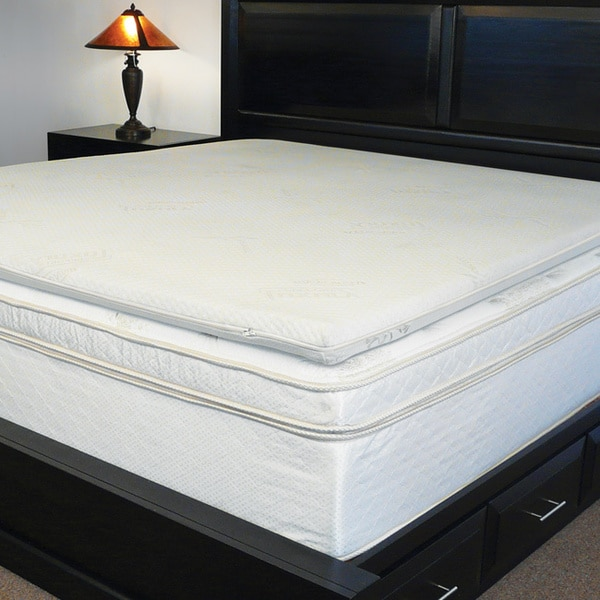 Dual-sided 2.5-inch Multi-season Reversible Memory Foam/ Latex Topper