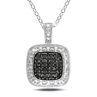 M by Miadora Sterling Silver 1/4ct TDW Black Diamond Necklace