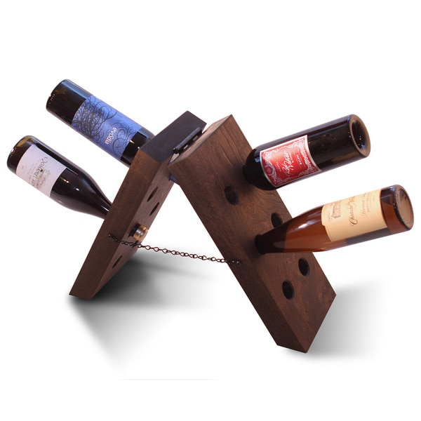 12-bottle Walnut Wine Tower