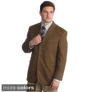 Hathaway Men's Cashmere Italian Made 3-button Sport Coat