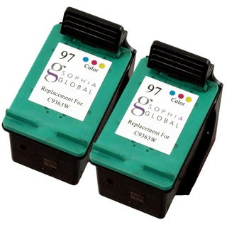 Sophia Global Remanufactured Color Ink Cartridge Replacement for HP 97 (Pack of 2)