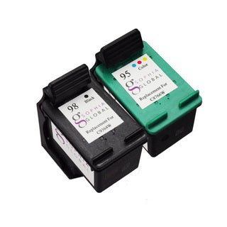 Sophia Global Remanufactured Ink Cartridge Replacement for HP 98 and HP 95 (Pack of 2)
