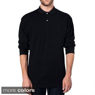 American Apparel Men's Pique Cotton Long Sleeve Shirt