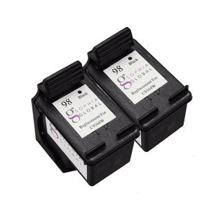 Sophia Global Remanufactured Black Ink Cartridge Replacement for HP 98 (Pack of 2)