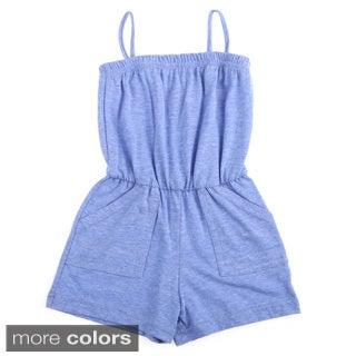 American Apparel Kids Solid Pocket Romper