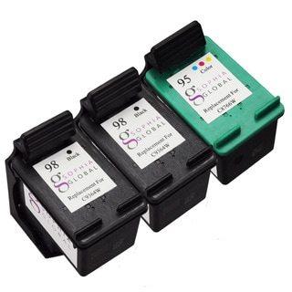Sophia Global Remanufactured Ink Cartridge Replacement for HP 98 and HP 95 (Pack of 3)