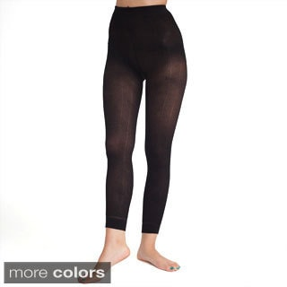 American Apparel Women's Footless Ribbed Pantyhose