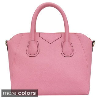 Yoki Saffiano PU Top-handle Tote Bag