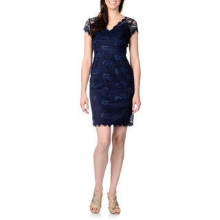 Marina Women's Allover Lace Sheath Dress