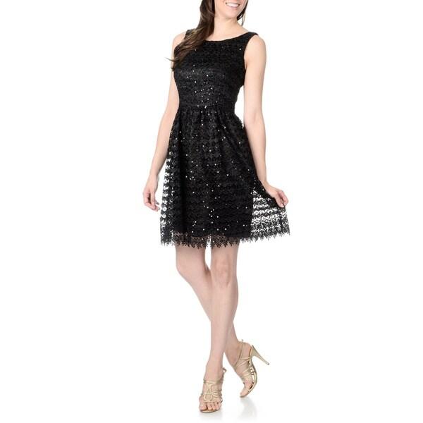 Marina Women's Sequin Lace Party Dress