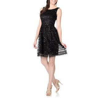 Marina Women's Sequin Lace Party Dress
